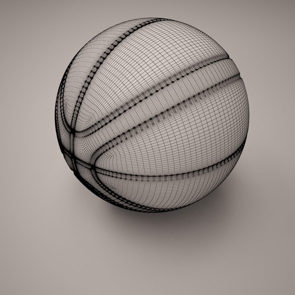 Basket Ball Lowpoly Turbosmooth