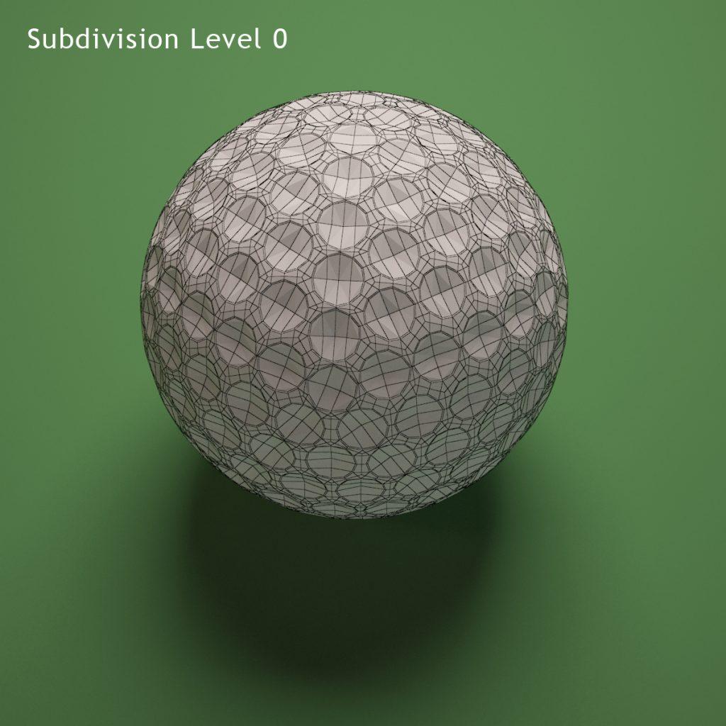Titlest Golf Ball Wireframe