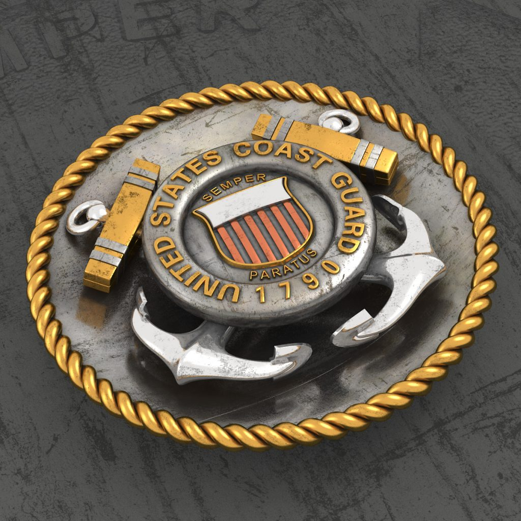 United States Coast Guard 3D Logo