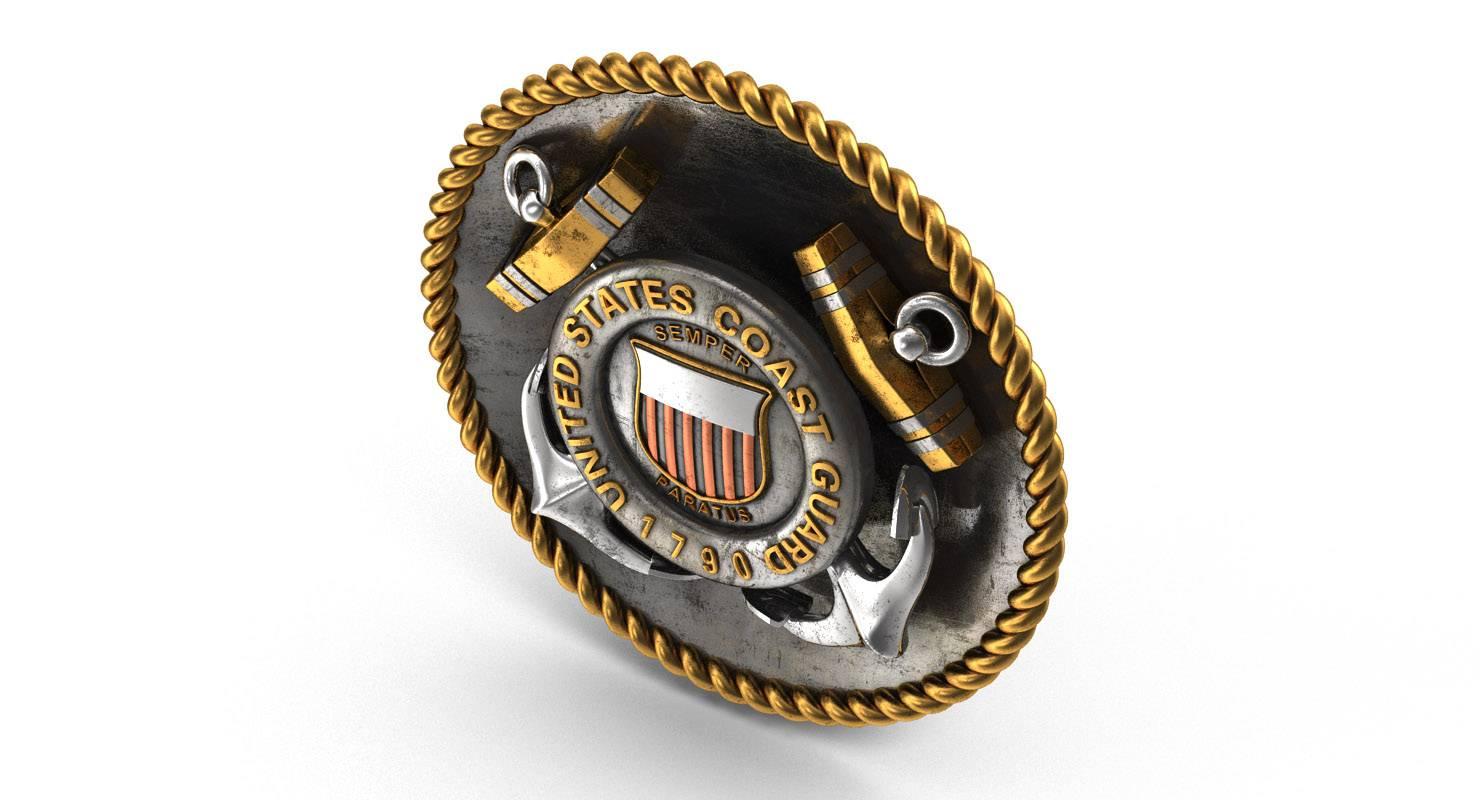 United States Coast Guard 3D Logo