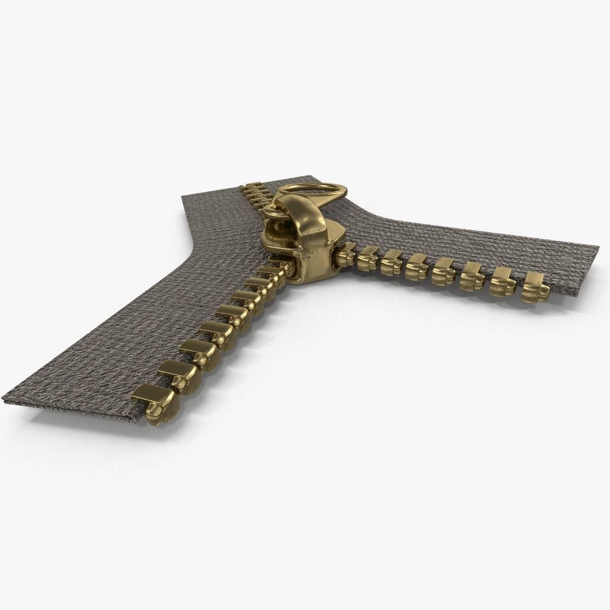 Brass Zipper 3D Model