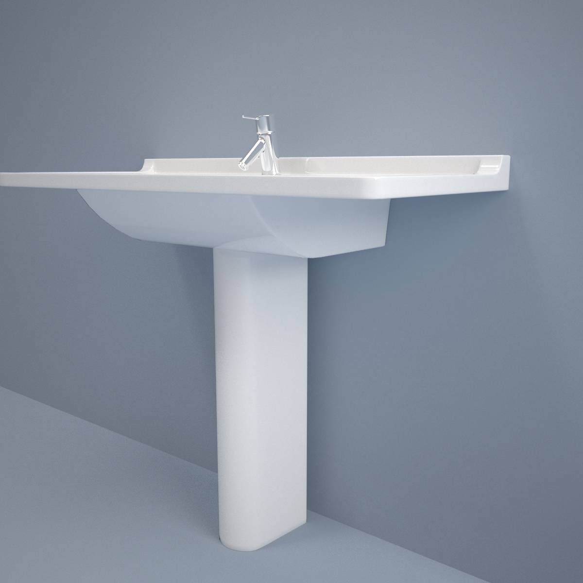 Toilet Sink with Tap - 3D Model