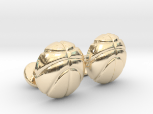 Basketball Cufflinks Gold