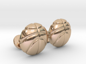Basketball Cufflinks Rose Gold
