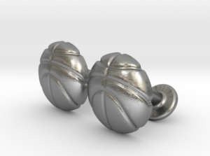 Basketball Cufflinks Silver