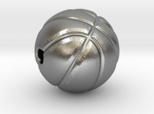 Basketball Pendant Silver