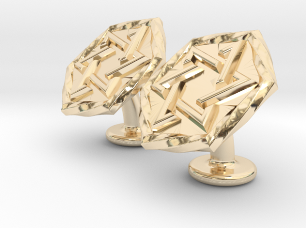 Magen David Star Cufflinks Gold