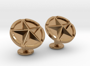 US Army Star Cuflinks Brass