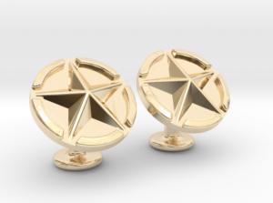 US Army Star Cuflinks Gold