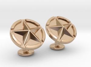 US Army Star Cuflinks Rose Gold