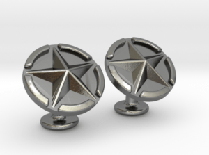 US Army Star Cuflinks Silver