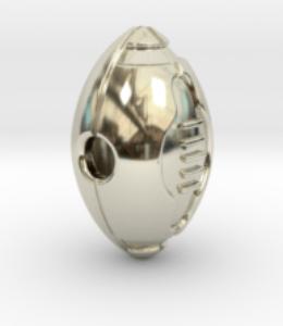 white gold football ball