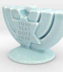 large porcelain menorah