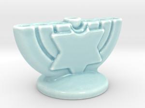 medium porcelain menora
