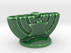 small porcelain menorah