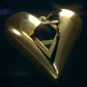 Israel in Heart With Magen David Seal