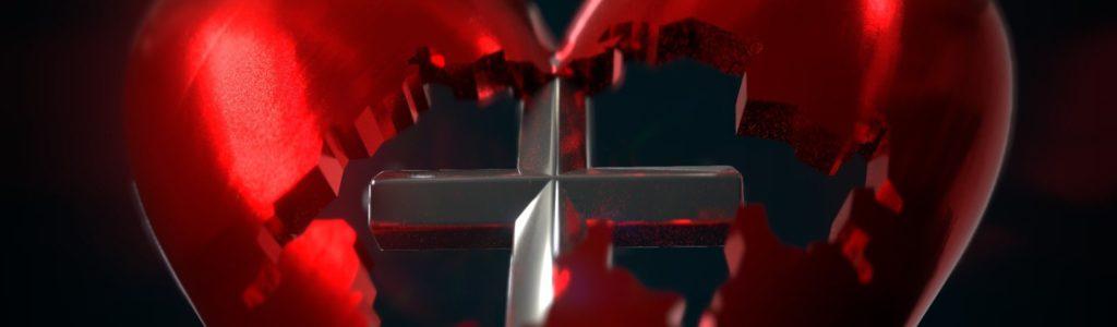 Swiss Heart with Cross Pendant