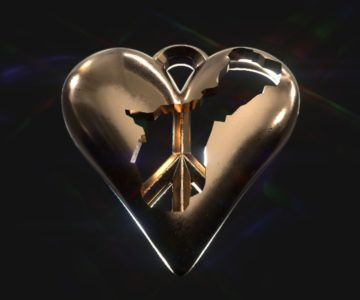Guam in Heart with Peace Pendant