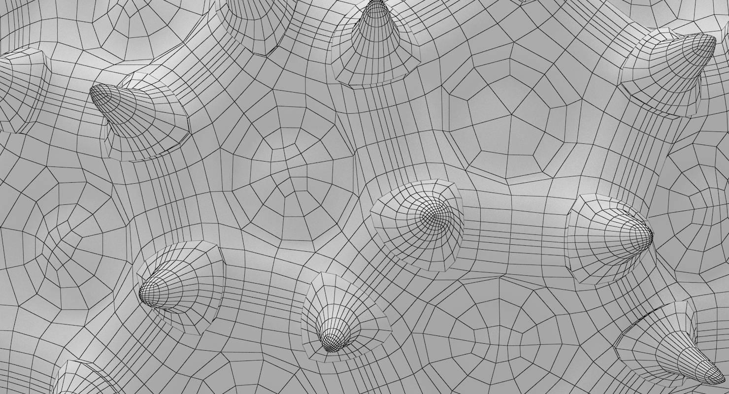 Pollen Particle 3D Model