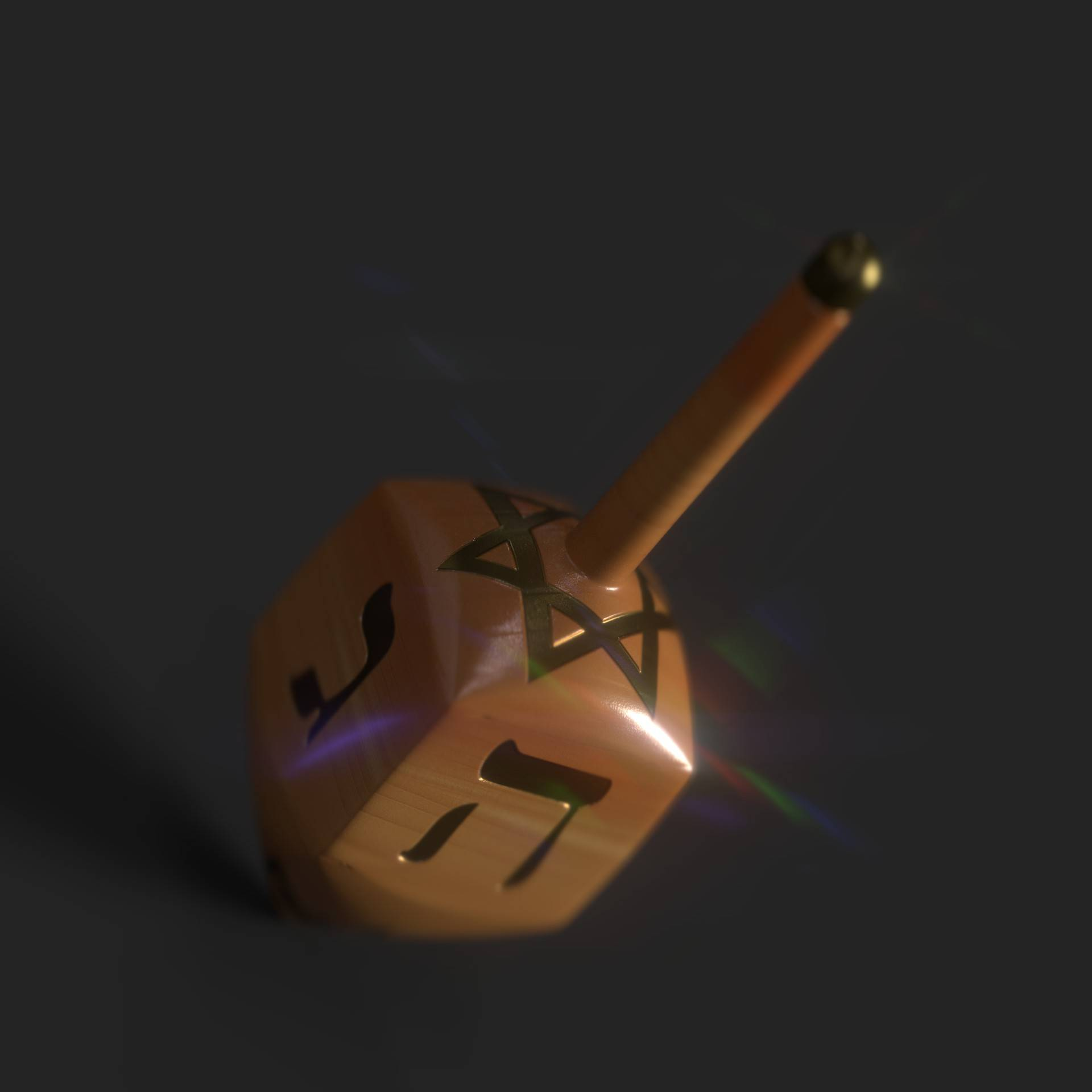 Dreidel 3D Model