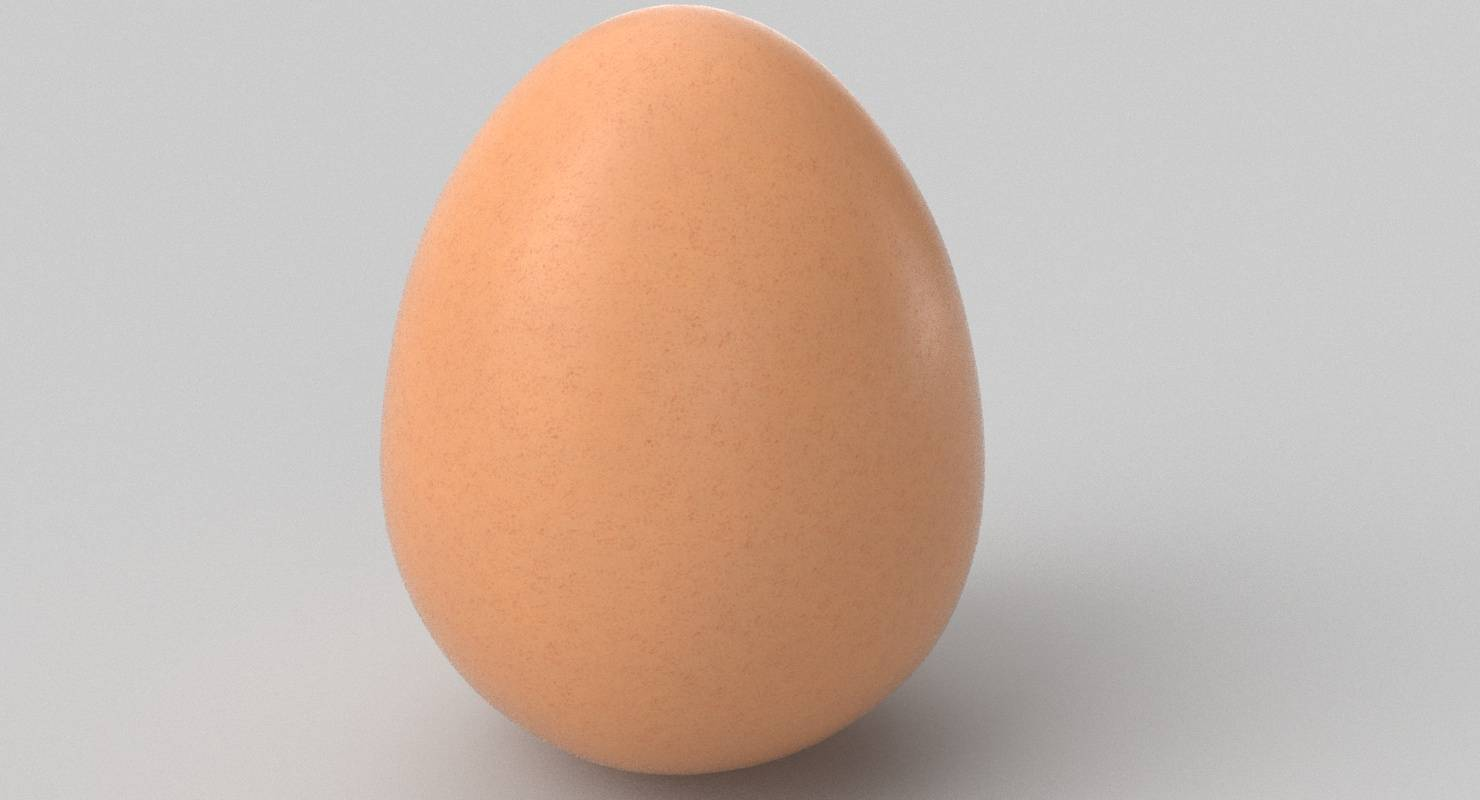 Hen (Chicken) Egg 3D Model
