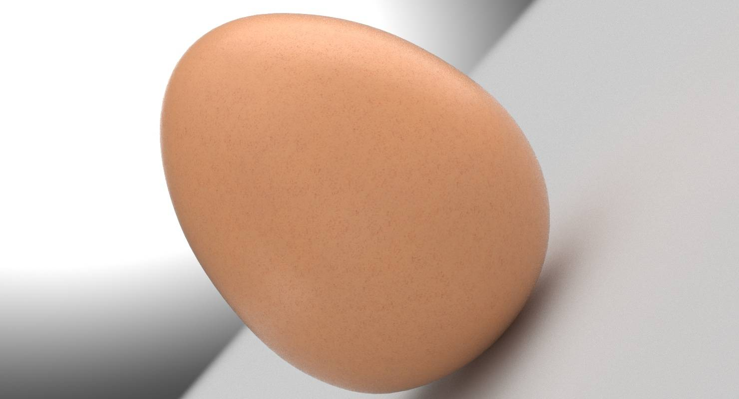 Hen (Chicken) Egg 3D Model