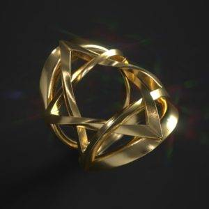 David Star Ring in Gold