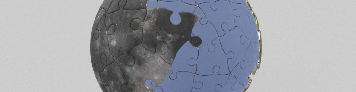 Moon 3D Puzzle Model